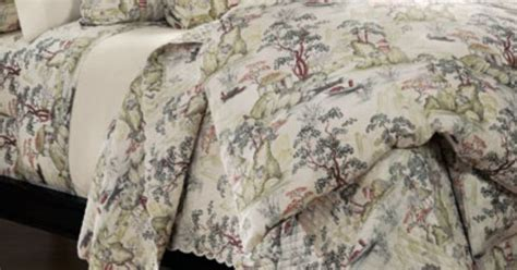 Quilted Cotton Percale Asian Toile Coverlet, Saru