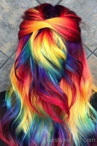 colored hairstyles page
