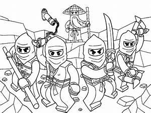 Descargue e imprima gratis dibujos para colorear Lego Ninjago
