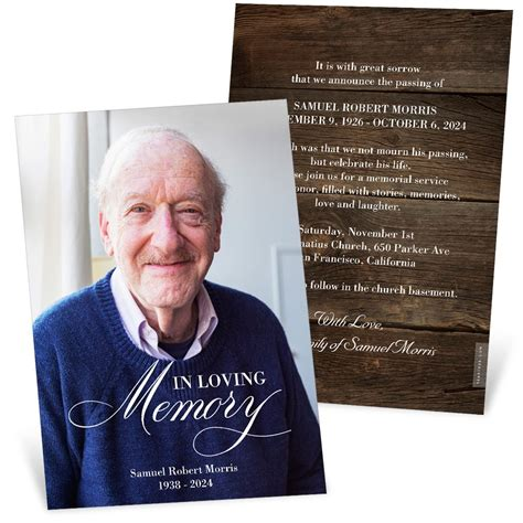 loving memory memorial card pear tree