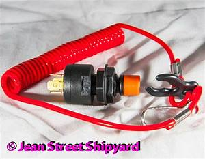Universal Safety Teather Ignition Kill Switch And Lanyard