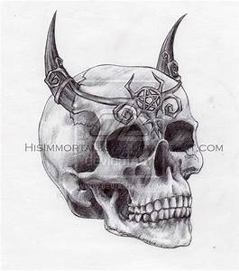 demon skull by HisImmortal1922 on DeviantArt