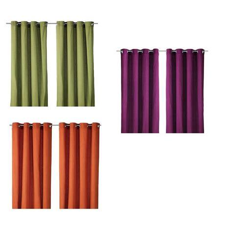 Blickdichte Gardinen Ikea by Ikea Gardinen Paar Mariam Blickdicht 3 Farben Vorh 228 Nge Ebay