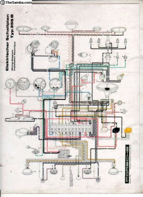 Wiring Diagram Porsche 356b by Thesamba Vw Classifieds Porsche 356 B Color Coded
