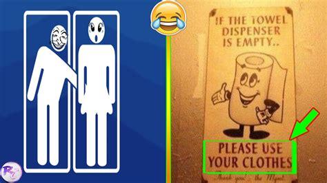 Rude Bathroom Signs by Most Funniest Bathroom Signs