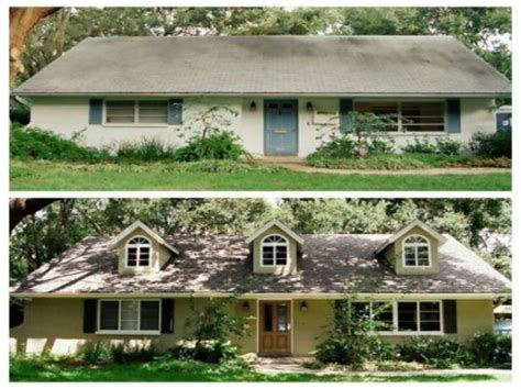 house remodel pictures before and home exterior makeover