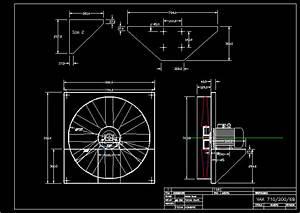 Axial Fan DWG Block for AutoCAD • Designs CAD