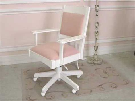 shabby chic office chair shabby cottage chic pink linen swivel office chair the bella cottage youtube