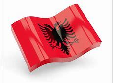 Glossy wave icon Illustration of flag of Albania