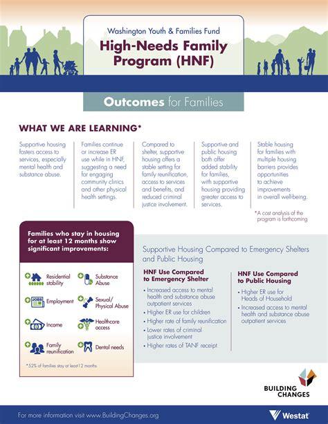 Washington Youth & Families Fund High-Needs Family Program ...