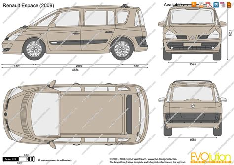 the blueprints vector drawing renault espace
