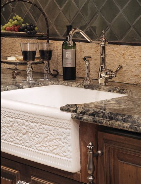 farmhouse sink granite counter tops for the home
