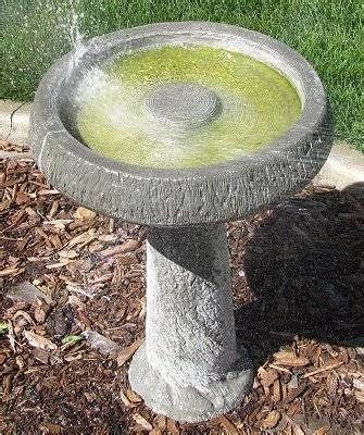 how to clean a bird bath without scrubbing