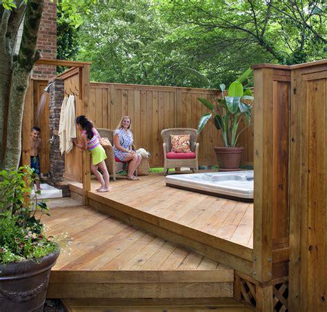backyard wood deck deck design ideas archadeck of