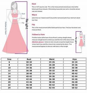 Dress Sizes Chart For Women