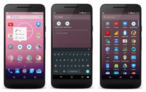 android nougat launcher apk for android phones