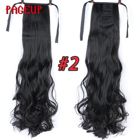 Pageup 24 Inches Curly Wavy Ponytail Clip In Hair