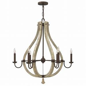 Rustic shabby chic chandelier on iron frame with candle
