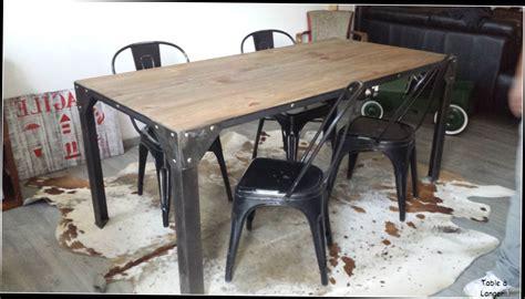 table cuisine industrielle table cuisine style industriel galerie avec beau table de