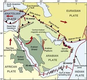 Arabian Plate  Arabian Tectonic Plates