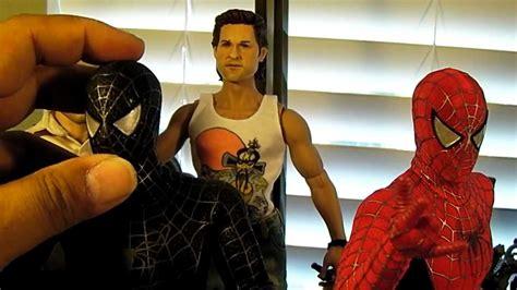 hot toys   black suit spider man  figure unboxing