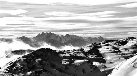 Schwarz Weiß Kontrast Bilder schwarz weiss kontrast am feuerkogel mit blick zum