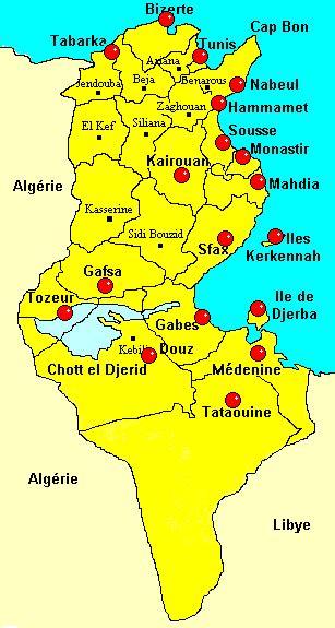 Carte De Tunisie Avec Villes by Carte Tunisie Ville Voyages Cartes