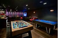 home game room 50 Gaming Man Cave Design Ideas For Men - Manly Home Retreats