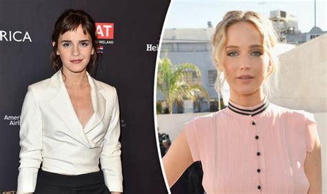 Emma Watson Jennifer Lawrence Running For Raspberry