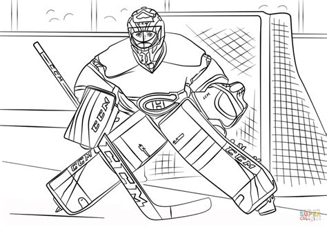 hockey coloring pages carey price coloring page free printable coloring pages