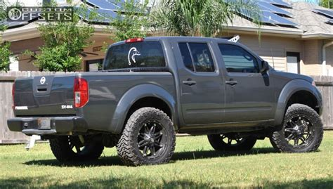 nissan frontier 6 inch lift wheel offset 2012 nissan frontier slightly aggressive