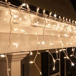 Christmas Icicle Light - 150 Clear Twinkle Icicle Lights