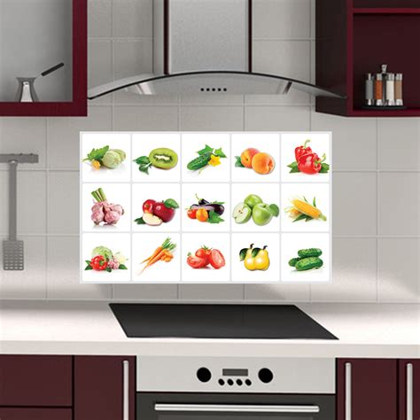 kitchen tiles stickers cabinet fruit anti kitchen wall tile stickers 3358