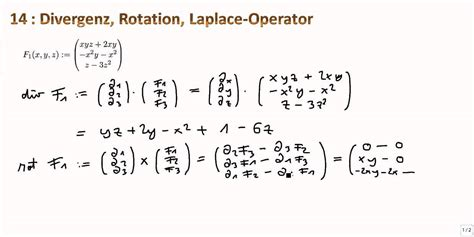 mathe ii  divergenz rotation laplace operator youtube