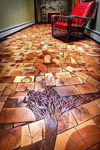 Creative, Ideas, Unusual, Wooden, Floor