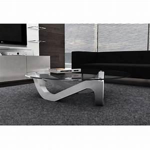 Table Basse Verre Design : table basse design ronde plateau en verre organic ~ Teatrodelosmanantiales.com Idées de Décoration