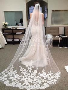 online buy wholesale long lace wedding veil from china With long veil wedding dresses