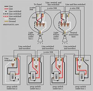 4 Way Switch Wiring Diagram Power At Light