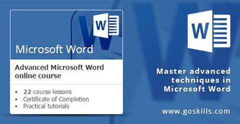 microsoft word advanced  training