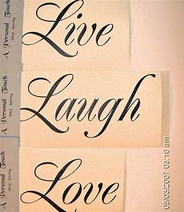 diy live laugh love wall decal vinyl lettering wall word With vinyl lettering for walls