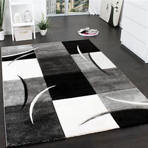 Designer teppich mit konturenschnitt muster kariert in for Balkon teppich mit abwaschbare tapete für küche