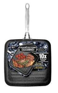 granitestone  nonstick aluminum grill pan  stay cool handle  ebay
