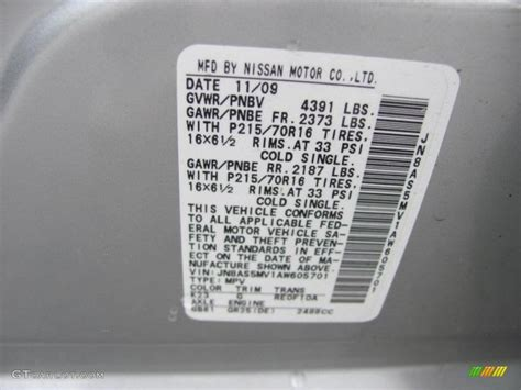 2010 rogue color code k23 for silver ice photo 38088739