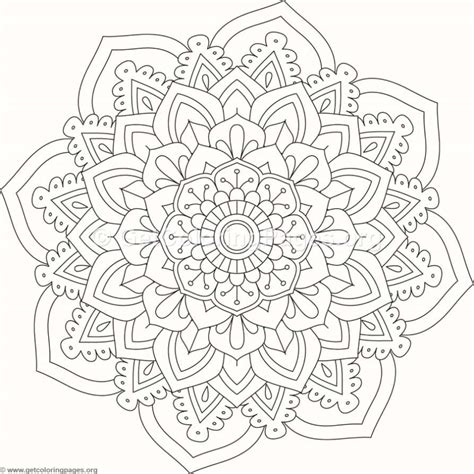 Coloring Mandala by Flower Mandala Coloring Pages 516 Getcoloringpages Org
