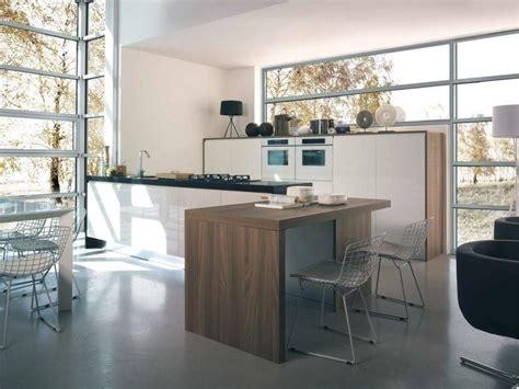 cuisine blanche en bois ilot de cuisine 14 photo de cuisine moderne design