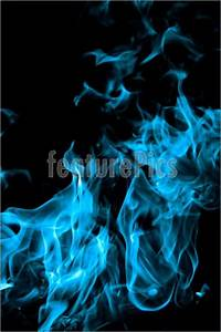 Texture: Blue Fire On Black Background - Stock Picture ...