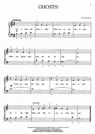 halloween piano sheet music