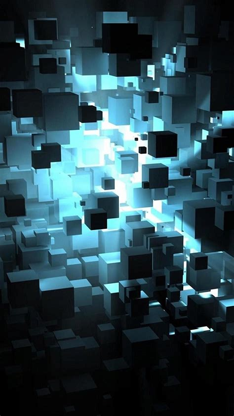 3d Hd Wallpapers For Iphone 6 by 3d Floating Cubes Iphone 6s Wallpapers Hd