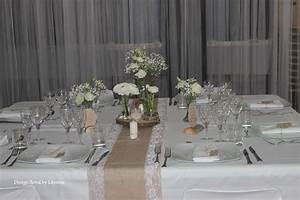 Centre De Table Champetre : centre de table mariage champ tre bois craft jute ~ Melissatoandfro.com Idées de Décoration
