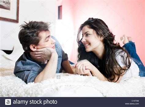 how to talk to a in bed talking in bed stock photo 35625699 alamy
